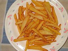 cuantas calorias tiene las papas fritas