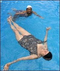 Ejercicios en el agua para obesos