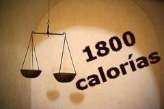 Dieta de las 1800 calorías