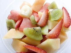 Ensalada de frutas bajas calorías