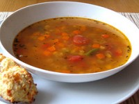 Sopa de verduras bajas calorías
