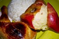 Dieta de arroz, pollo y manzana