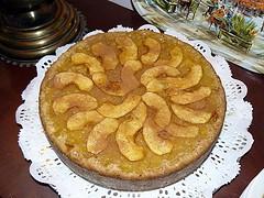 Torta de manzanas bajas calorías