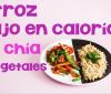 Arroz con verduras y chía bajas calorías y colesterol