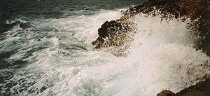 Agua de mar salada