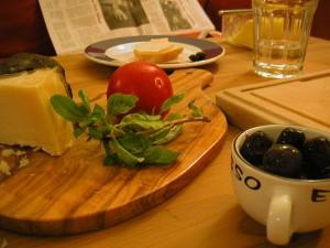 queso y vegetales