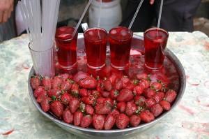 jugo de frutillas