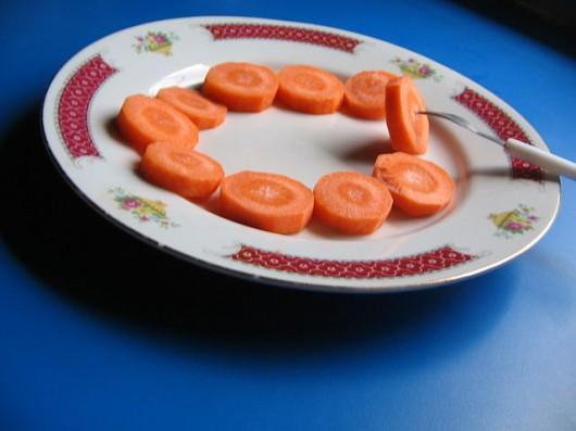 zanahoria en rebanadas