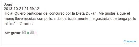 comentario ganador concurso dukan
