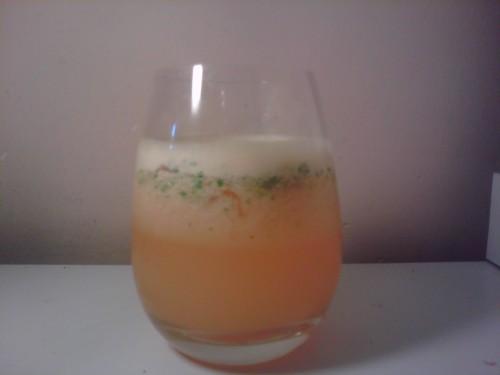 Agua de jengibre y naranja